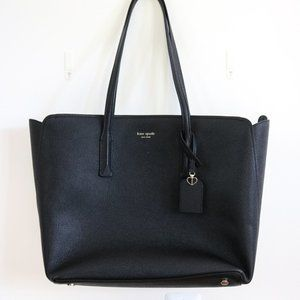 Kate Spade Large Black Margaux Leather Tote NEW!